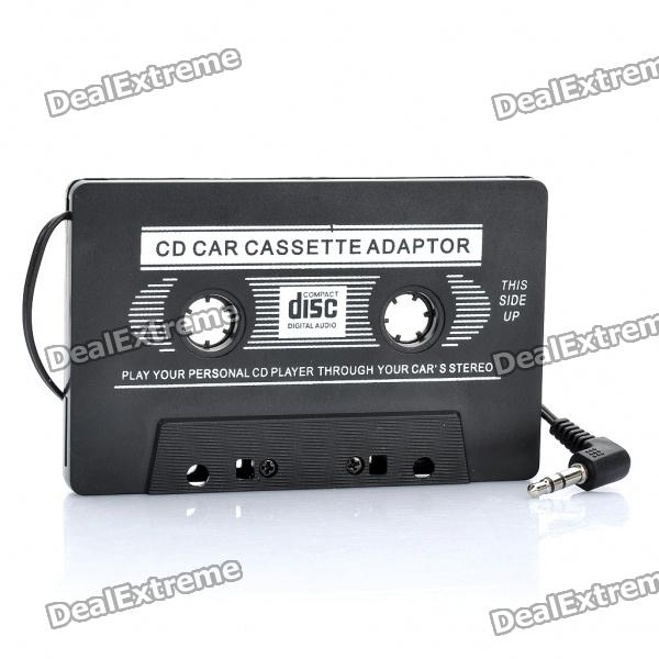 Car Cassette Tape Adapter Transmitters for MP3 / DVD Player - Black