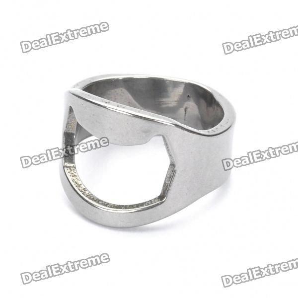 Buy Finger Ring Style Bottle Opener for Bar / Pub / Home - Silver with Litecoins with Free Shipping on Gipsybee.com