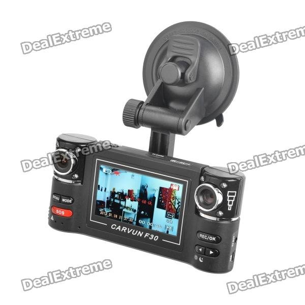 "Dual 5.0MP CMOS Car DVR Camcorder w/ 8-IR LED Night Vision / TF / TV-Out (2.7"" TFT LCD)"