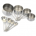 8-in-1 Stainless Steel Measuring Spoon Cup Set - Silver