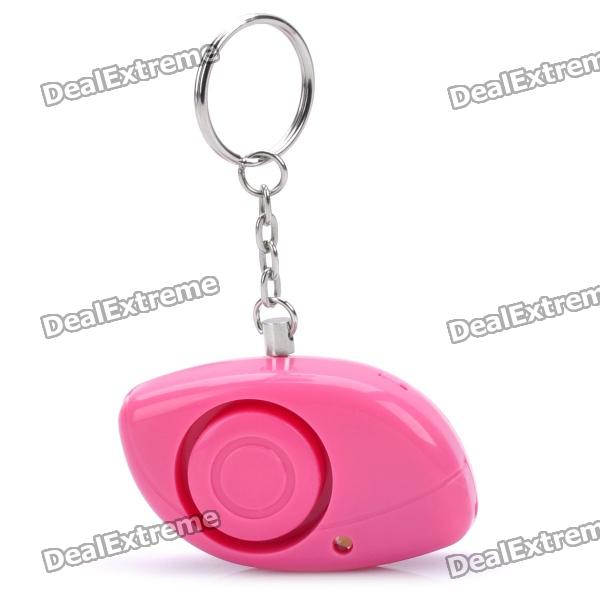 Mini Anti-Robbery Alarm Warner w/ Keychain - Pink (2 x CR2032)