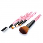 Tragbare Beauty Kosmetik Make-up Pinsel Set (5-Stück-Packung)