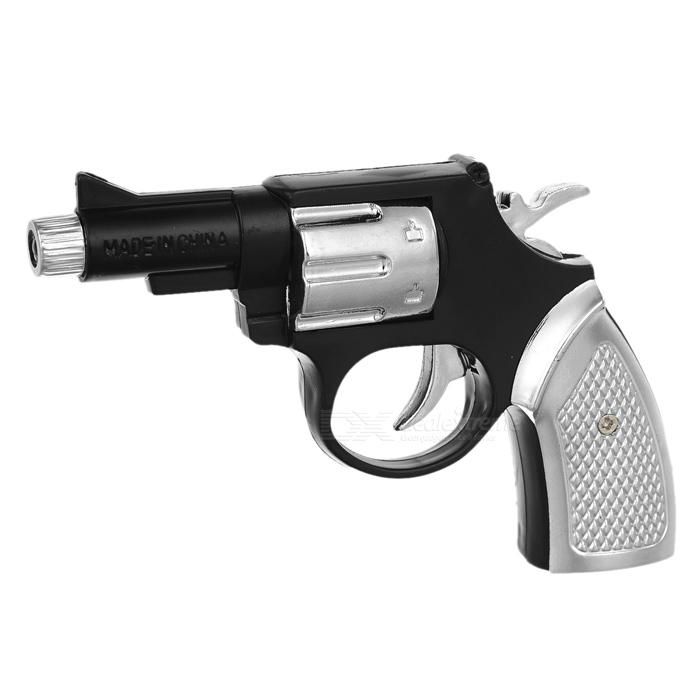Shock-Your-Friend Shocking Gun Toy - Black + Silver