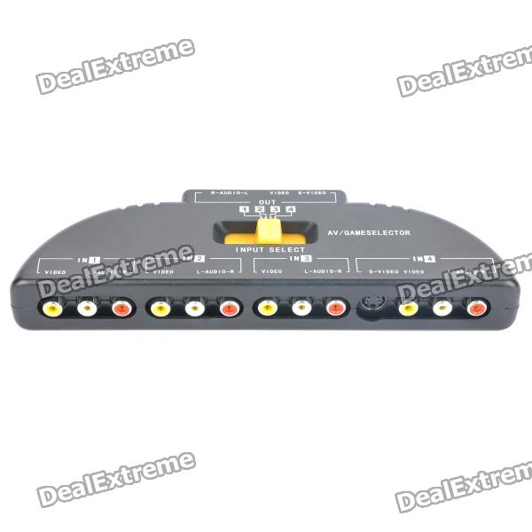 5 port av audio video switcher (4 in 1 out) free shipping