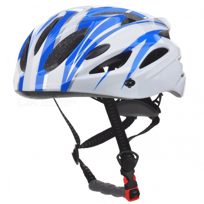 Cool 18 Vents Sports Cycling Helmet - Blue + White