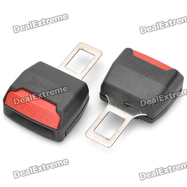 Car Seat Belt Extender Extension Buckles - Black + Red (Pair)Seat Belt and Buckles<br>Material:Form  ColorBlackTypeSeat BeltPacking List<br>