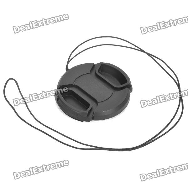 49mm Camera Lens Cap Cover - Black