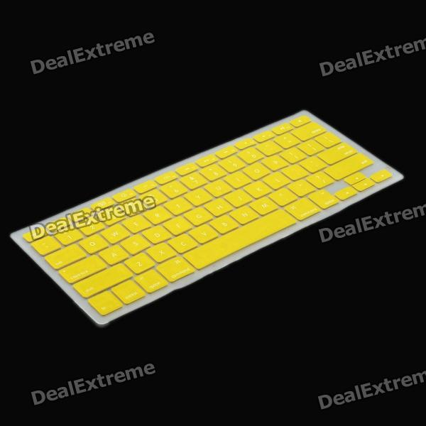 Protective Keyboard Cover w/ Anti-Dust Plugs Kit for Apple MacBook Air / Pro - Yellow