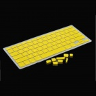 Schutz Keyboard Cover w / Anti-Staub-Stecker-Kit für Apple MacBook Air / Pro - Gelb