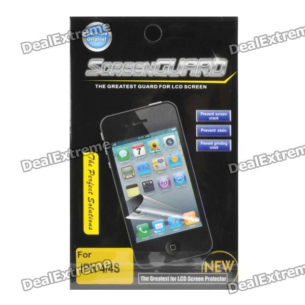Protective Crystal Screen Protector Guard for Iphone 4 / 4S - TransparentScreen Protectors<br>Material:Form  ColorTransparentScreen TypeClearPacking List<br>