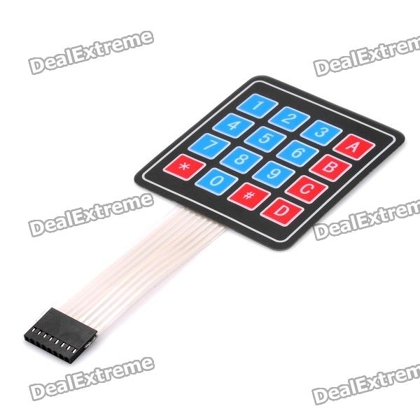 4*4 Matrix 16 Key Membrane Switch Keypad Keyboard - Black