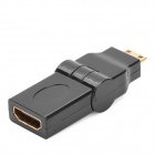 Mini HDMI macho a hembra adaptador HDMI giratoria - Negro