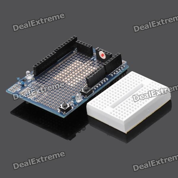 Mini Breadboard + Prototype Shield for Arduino