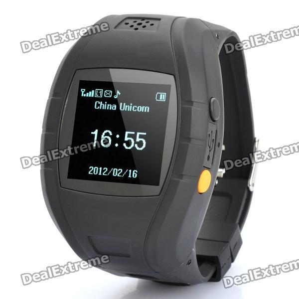 1.4 OLED GSM / GPS Personal Position Tracker Wrist Watch - BlackHandheld GPS<br>Form  ColorBlackNetworkGSMScreen TypeOLEDAntennaBuilt-inSupports Card TypeMSPower AdapterUSBPacking List<br>