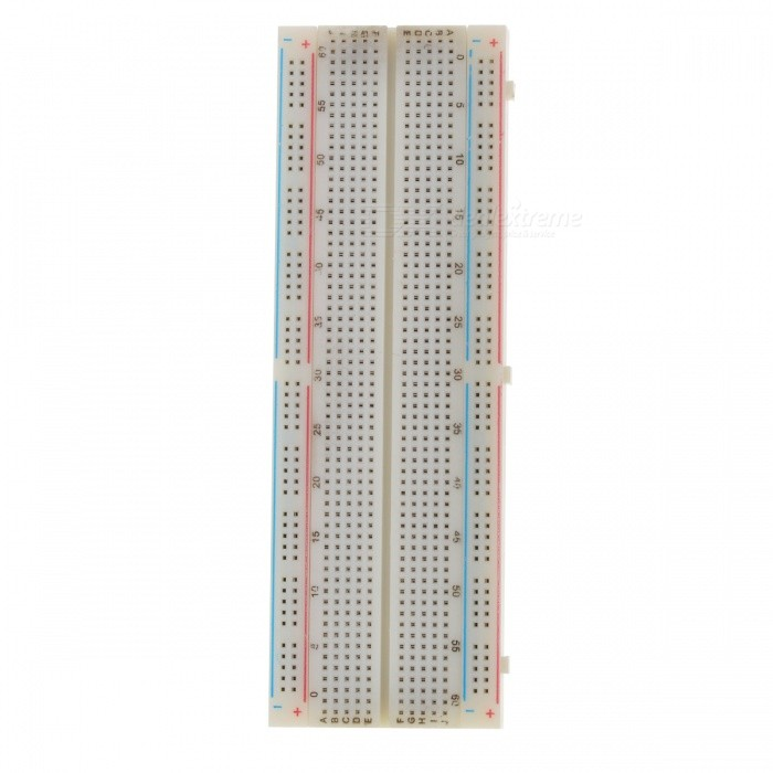 830 Point Solderless Breadboard - White