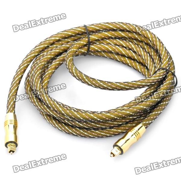 24K Gold-Plated Male to Male TOSLINK Digital Fever Optical Fiber Wire Cables - Golden(3M-Cable)
