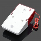 100dB Alarm Siren with Red Strobe Flashing Light - Red + White