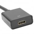 DisplayPort DP macho a HDMI hembra adaptador de cable - Negro (15 cm)