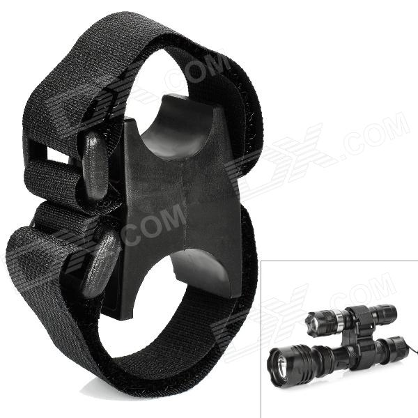 Buy Universal Nylon Mount for Flashlights and Lasers - Black with Litecoins with Free Shipping on Gipsybee.com