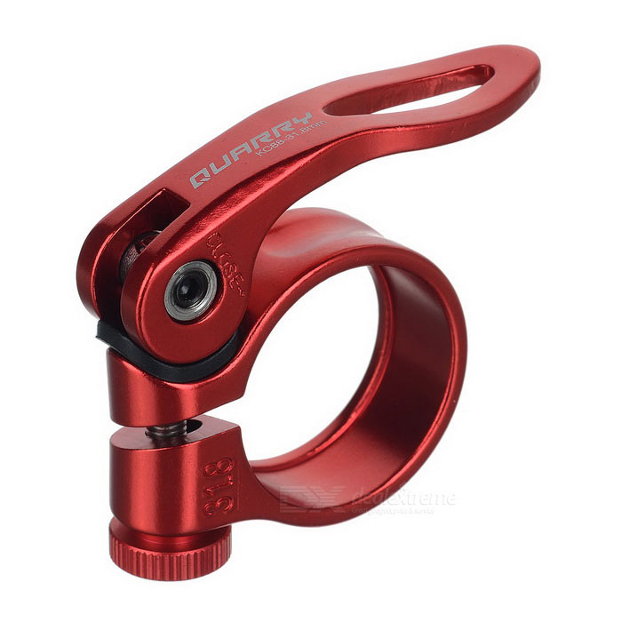 Quarry KC88-31.8 Aluminum Alloy Bicycle Seat Post Clamp - Red