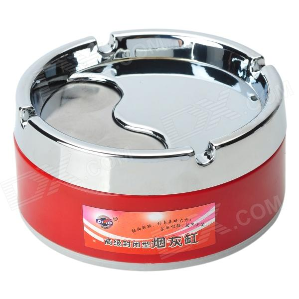 Buy Stainless Steel Rotatable Cover Cigarette Ashtray (Size-M) with Litecoins with Free Shipping on Gipsybee.com