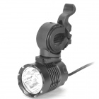 1000LM 3-LED 3-Mode White Bike Light with Mount Bracket and Battery Pack (4 x 18650)
