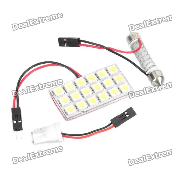 NEW 12V Ba9s 2W 100LM 6000K T4W White 6 SMD 5730 LED Dashboard License Wide Li