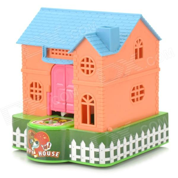 Mechanical Puppy House Coin Saving Bank Purple Red Green