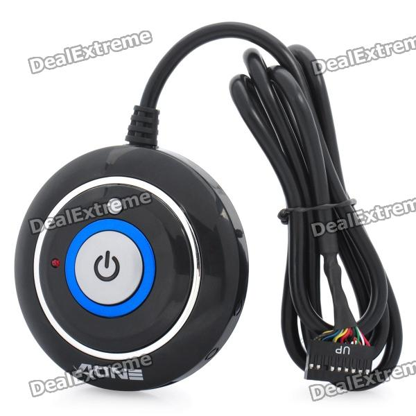 Buy JM-202 Desktop Power Button Switch Module for PC - Black with Litecoins with Free Shipping on Gipsybee.com