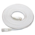 Cat.6 RJ-45 Ultra Flat LAN Cable de red - Blanco (5M)