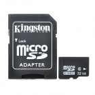 Micro SD / TF Card with SD Card Adapter - Black (32GB / Class 6)