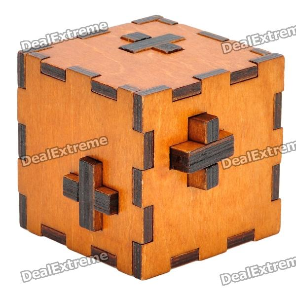 Swiss Secret Puzzle Box Wood Brain Teaser Toy - Wood