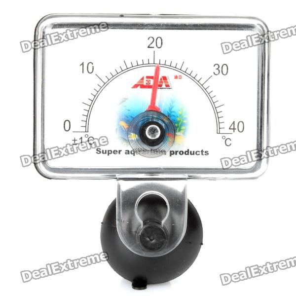 Sector Shaped Submersible Waterproof Aquarium Analog Thermometer - Black (0~40'C)