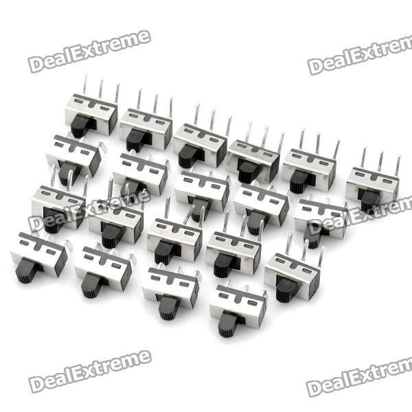 Mini Slide Switches (20-Piece Pack)Switches &amp; Adapters<br>Form  ColorBlackPacking List<br>