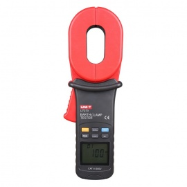 UNI-T-UT273-22-LCD-Clamp-Style-Grounding-Resistance-Measurement-Tester-Red-2b-Gray-(4-x-AA)