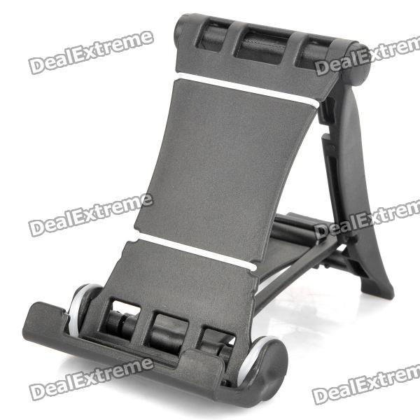 Engineering Plastic Holder Stand for Cell Phone / Tablet PC + More - Black