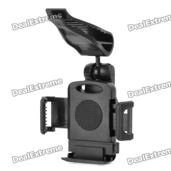 Car Sun Visor Mount Holder for Samsung i9220 / i9250 / i9100 / i9000 / S5830 - Black
