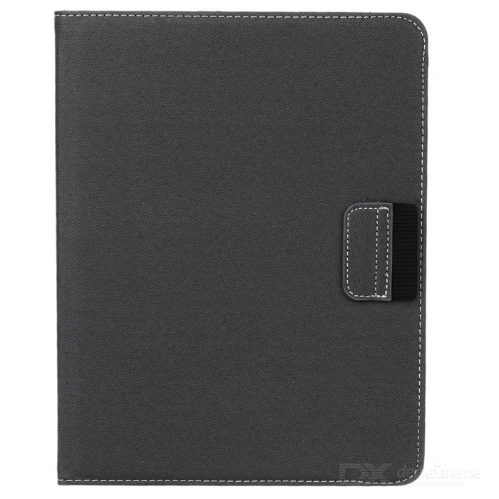 360-Degree-Rotation-Protective-PU-Case-for-Ipad-2-Grey
