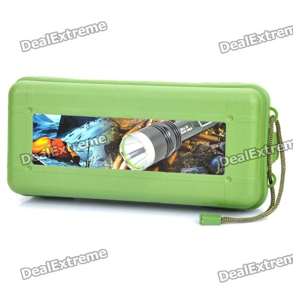 Waterproof Plastic Box w/ Strap for flashlight - Army Green (L-size)