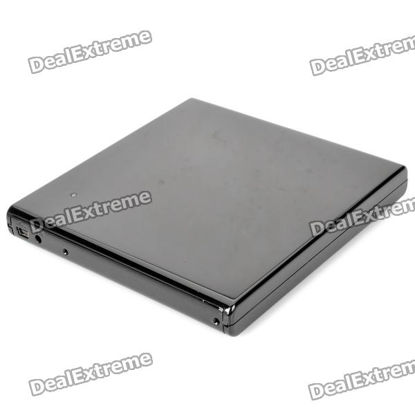 Buy USB 2.0 12.7mm SATA Laptop Optical Drive External Case Set - Black with Litecoins with Free Shipping on Gipsybee.com