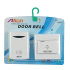 V006C 38-Melody Wireless Doorbell Transmitter + Receiver Set - White (1 x 23A 12V / 2 x AA)