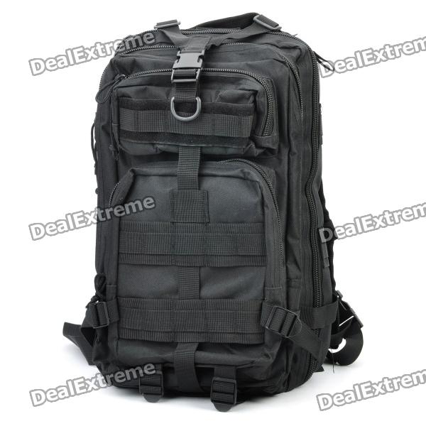 Buy Outdoor Water Resistant Backpack Bag - Black with Litecoins with Free Shipping on Gipsybee.com
