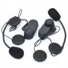 BT Interphone + Handsfree Bluetooth Set for Motorcycle / Skiing Helmet (Pair / 800M-Transmission)