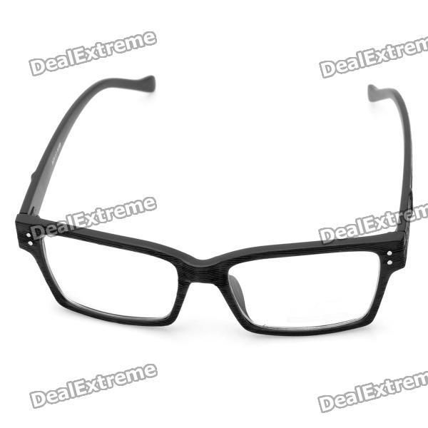 29935f752f9 Fashion Wooden Style Frame Square Lens Spectacles Eyeglass - Black ...