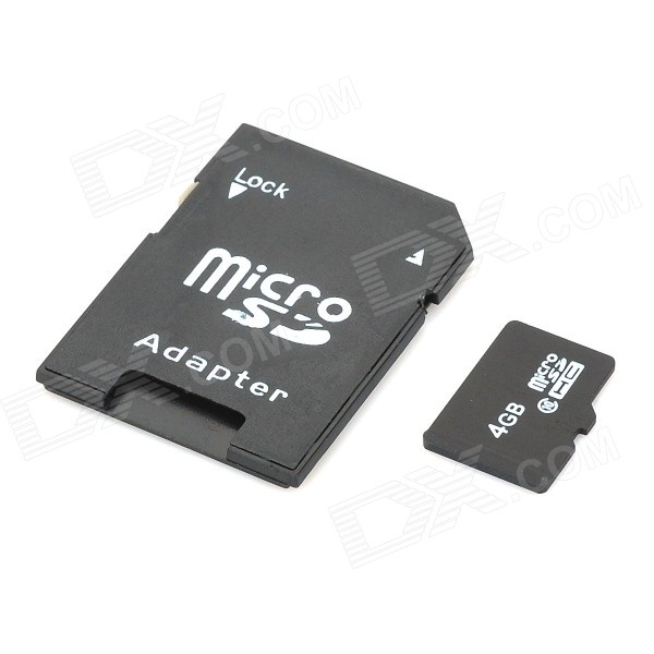 4gb Micro Sd Tf Card With Sd Card Adapter Black Free Shipping