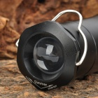 Telescopique 3W 100LM 3-Mode Blanc LED Lampe de poche Camping Light avec suspension - Noir (3 x AAA)
