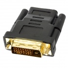 HDMI Female to DVI 24+1 Male Connecter Adapter - Black + Golden