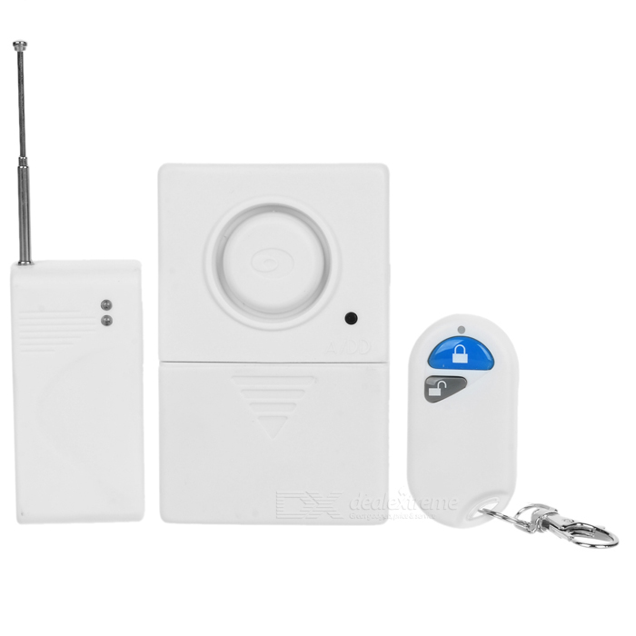 Wireless-Remote-Control-Magnetic-Door-Alarm-White-(3-x-AA)