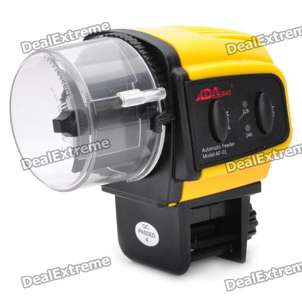 Automatic-Aquarium-Fish-Feeder-Yellow-(2-x-AAA)