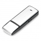 USB 2.0 Rechargeable Flash Drive Voice Recorder - Silver (4GB)